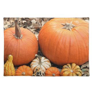 Pumpkins In Leaves Placemat