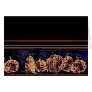Pumpkins in the Night Card