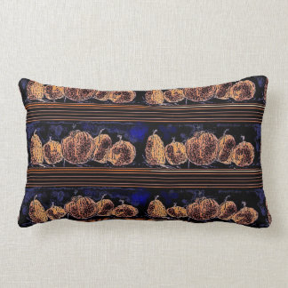 Pumpkins in the Night Lumbar Pillow