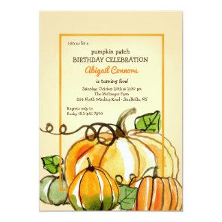 Pumpkins in Watercolor Invitation