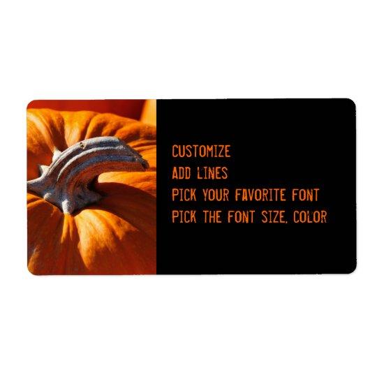 Pumpkins large label