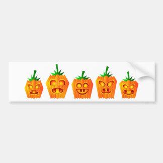 Pumpkins Lined Up Bumper Sticker