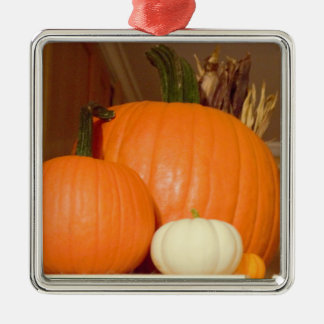 Pumpkins Metal Ornament