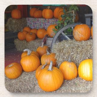 Pumpkins on Straw Coaster