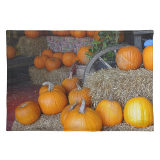 Pumpkins on Straw Placemat