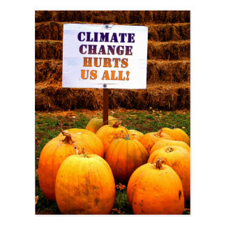 Pumpkins Protest Climate Change Postcard