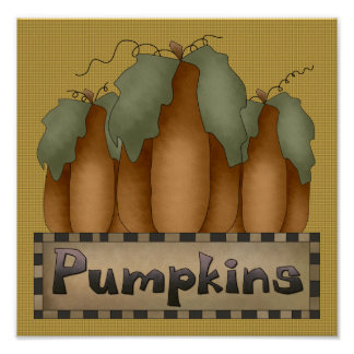 Pumpkins Sign/Print Poster