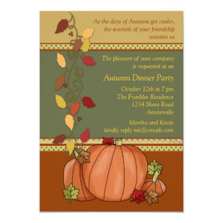 Pumpkins Three Invitation