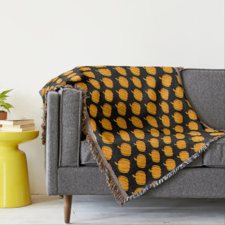 Pumpkins Throw Blanket
