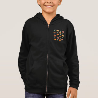 Pumpkins with Leaves Kids' Zip Hoodie