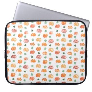 Pumpkins with Leaves Laptop Sleeve 15''