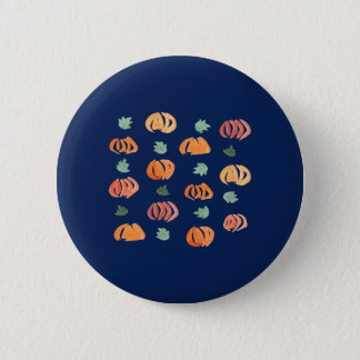 Pumpkins with Leaves Standard Round Button