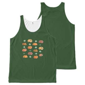 Pumpkins with Leaves Unisex Tank Top