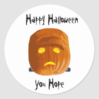 Pumpkinstein: Happy Halloween - You Hope Classic Round Sticker
