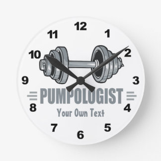 Pumpologist Pumping Iron Weightlifting Wall Clocks