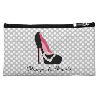 Pumps and Pearls Cosmetics Bag