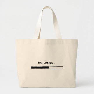 Pun Loading Large Tote Bag