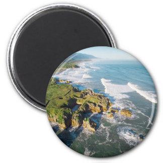 Punakaiki Pancake Rocks, New Zealand 2 Inch Round Magnet