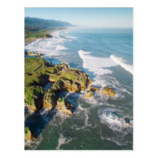Punakaiki Pancake Rocks, New Zealand Postcard