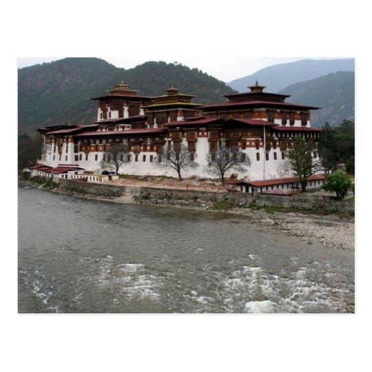 punakha dzong river postcard
