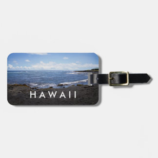 Punalu'u Black Sand Beach Hawaii Luggage Tag