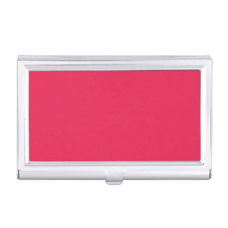Punch Hot Pink Personalized Trend Color Background Business Card Holder