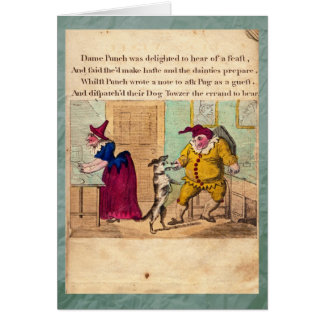 Punch & Judy Story Plate II Greeting Card