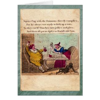 Punch & Judy Story Plate III Greeting Card