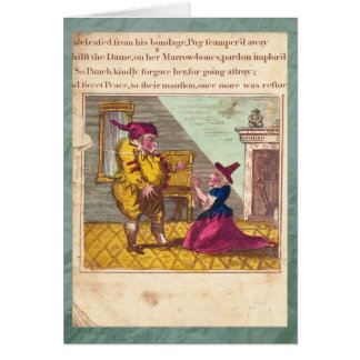 Punch & Judy Story Plate XVI Greeting Card Greeting Cards
