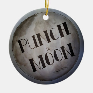 Punch The Moon products Ceramic Ornament