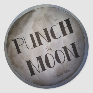 Punch The Moon products Classic Round Sticker