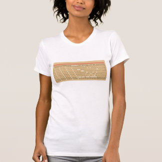 Punched Card Tee Shirt