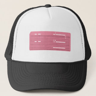 Punched card transparent background trucker hat