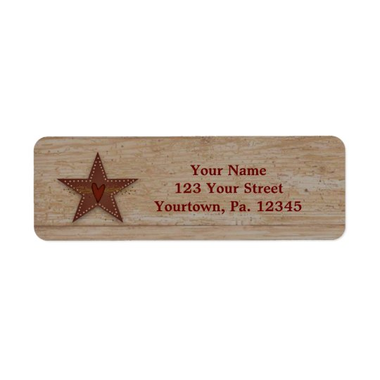 Punched Tin Star Address Label