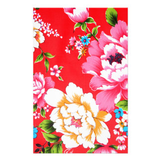 Punchy floral pattern stationery paper