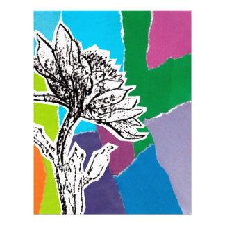 Punchy flowers letterhead