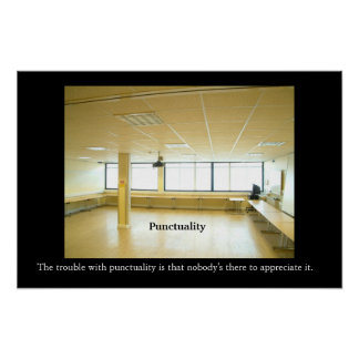 PUNCTUALITY Office Motivational/Anti-motivational  Poster