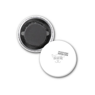 Punctuation Saves Cats 1 Inch Round Magnet
