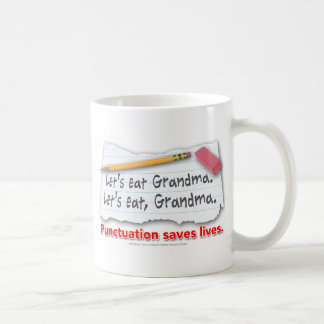 Punctuation Saves Lives Coffee Mug