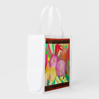 Puncture Abstract Orbs Reusable Grocery Bag