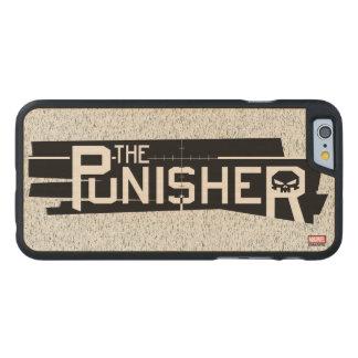 Punisher Logo Carved Maple iPhone 6 Case