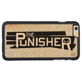 Punisher Logo Carved Maple iPhone 6 Plus Case