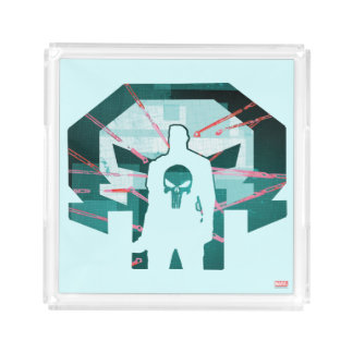 Punisher Logo Silhouette Acrylic Tray