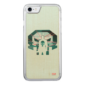 Punisher Logo Silhouette Carved iPhone 8/7 Case