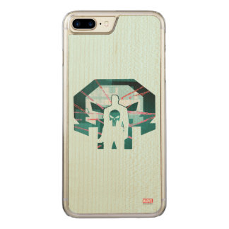 Punisher Logo Silhouette Carved iPhone 8 Plus/7 Plus Case