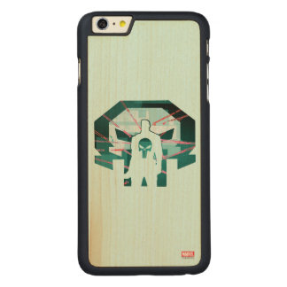 Punisher Logo Silhouette Carved Maple iPhone 6 Plus Case