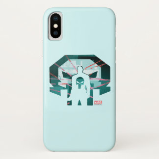 Punisher Logo Silhouette iPhone X Case