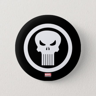 Punisher Skull Icon 2 Inch Round Button