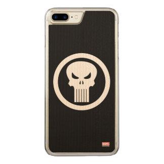 Punisher Skull Icon Carved iPhone 8 Plus/7 Plus Case