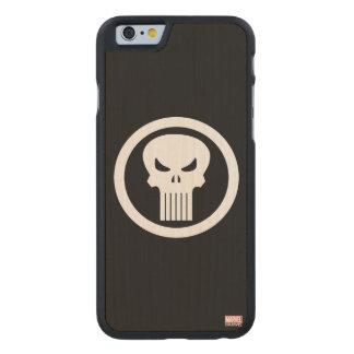 Punisher Skull Icon Carved Maple iPhone 6 Case